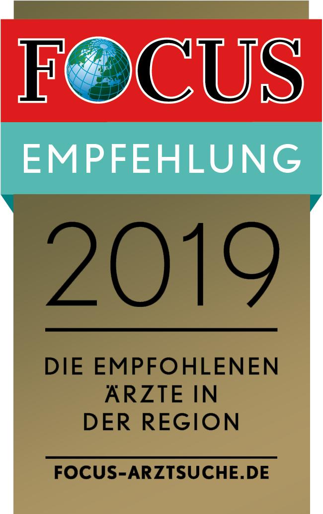 FOCUS EMPFEHLUNG 2019 Die Empfohlenen Ärzte in der Region